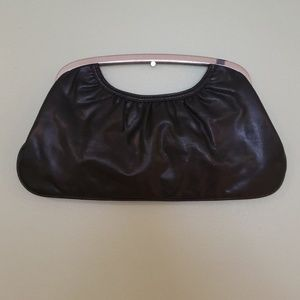 Express faux leather clutch